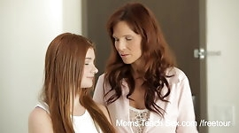 Horny mom teaches not her stepdaughter how to fuck
