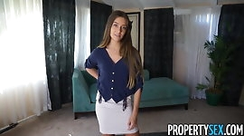 Property Sex - Real estate agent fucks buyer to get sale