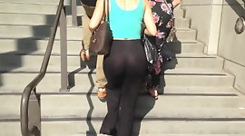 See thru- Amazing ass sheer pants thong