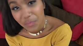 Sexy Ebony Teen Blowjob Audition