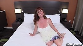 Beautiful Redhead Cougar Fucks Big Cock POV