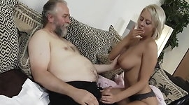 Teen and sweaty old man