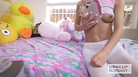 Gorgeous Tiny Blonde Gets the Best Rough Sex of her Life