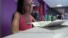 Public Pickups - Brunette Czech cashier has sex at work