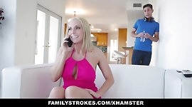FamilyStrokes - Hot StepMom Seduces and Fucks Young Step-Son