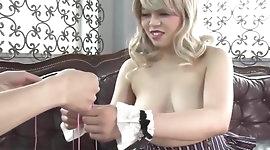 Asian Girl Inserts Vibrators in her Big Nipples