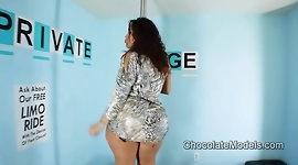 Big Booty Scarlett Metallic Dress Striptease