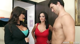 Big-tit brunette MILF Lisa Ann shares big-dick with Ava Adda