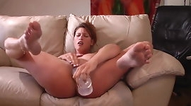 Huge Dildo Makes Her Squirt