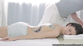 RubATeen Tiny Ass tattooed Russian teen massage sex