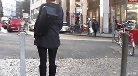Mom and anal plug in public