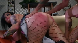 Chubby punk Scarlet LaVey fucked