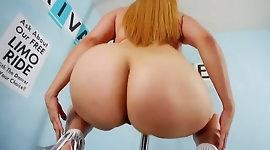 Big Booty Monai Maebach Strips Nude