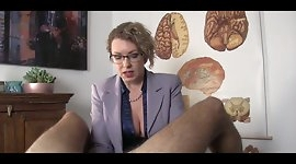 Doctor gives chronic masturbator handjob until he ejaculates