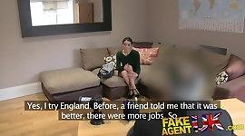 FakeAgentUK Anal acrobatics from Italian babe in porn castin