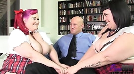 BBW schoolgirls get fucked by their Professor