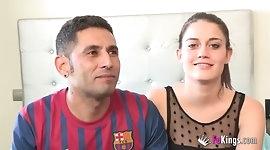 Suri is having her pussy broken in front of her boyfriend