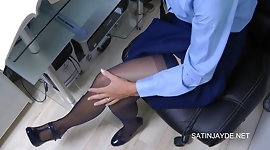 Student Masturbation In Nylons & Panties