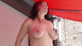 Step-Son Seduce STEPmother to Fuck outdoor while Sunbathing