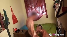 Punk girl brought a douchebag to her place to fuck him