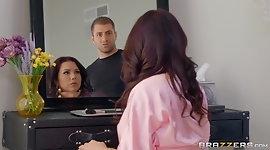 Heavy chested MILF fucks her son's friend