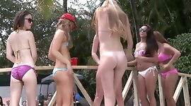 College pool party sex