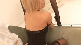 British blonde slut in a FFM threesome at the doctors