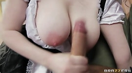 Horny French maid with perfect tits has multiple orgasms