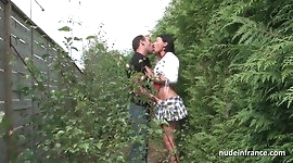 Busty amateur milf hard anal pounded outdoor