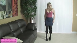 Cum on my tights Ballbusting Handjob Teaser Cory Chase