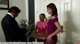 Couple Fucks the Teen Pizza Girl