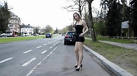 Angie Lee street prostitute in mini skirt and high heels