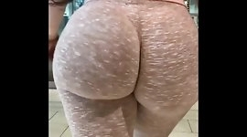Gorgeous butt ass on the leg coming out of shoping
