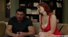 Big Tits Redhead Stretched
