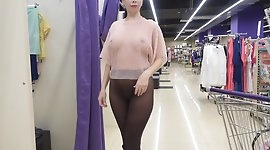 Shopping for transparent clothing..