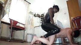 Black femdom - Mistress Kiana Strapon