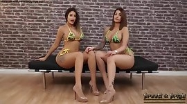Indian Twins Bikini naked Strip Masturbate Tease