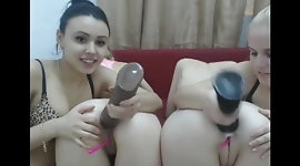 Four Lesbians On Webcam