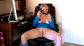 DIrty Talking Dildo Fucking Cum Drinking MILF Goddess