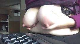 Nipples Hard at Work