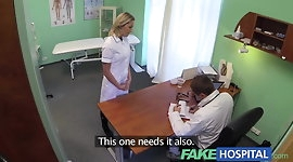 FakeHospital Naughty blonde nurse gets doctors full attentio