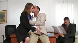 Sexy Secretary Threesome DP