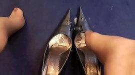 Cum In Leather Heels