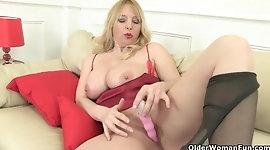 Big tits and British make the perfect milf