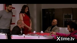 Italian Gang Bang Poker for a wife! LOOSING POKER & DIGNITY!