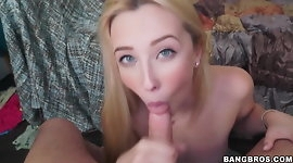 Beautiful Samantha Rone gets pounded in her dorm room