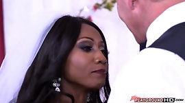 Interacial Couple Wedding Day Fuck