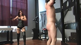 Sexy mistress whipping