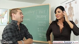 Chesty brunette teacher Tara Holiday fucking