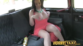 HornyTaxi Ass licking blow job beauty with great tits